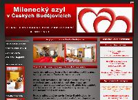 Web stránka Azyl pro milence České Budějovice je