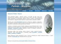Web stránka Sklenářství Pelikán - Mazanec je